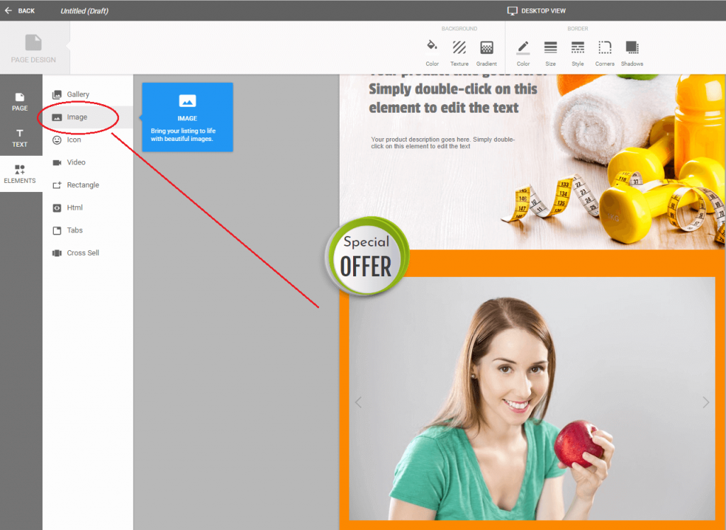 add image to ebay description template in crazylister