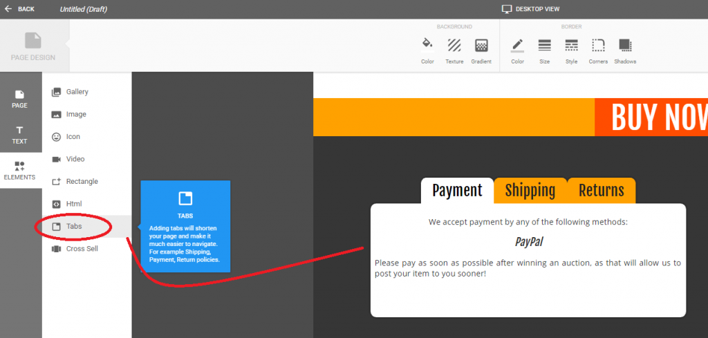 ebay description template tabs crazylister