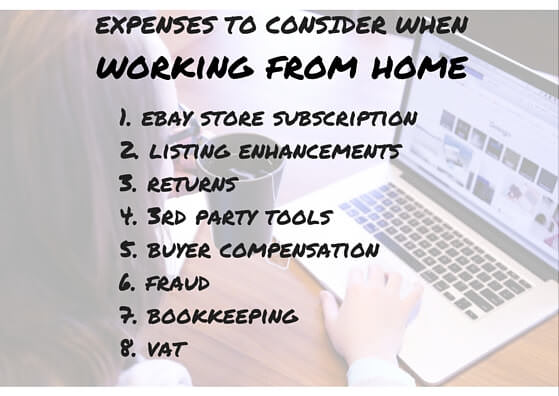 Expenses to take into account when selling on eBay from home