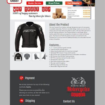 Motorcycle Jacket listing