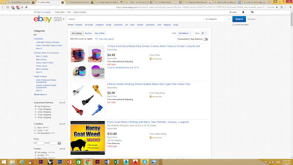 selling drug products on ebay