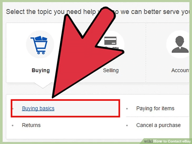 ebay customer service help center navigation