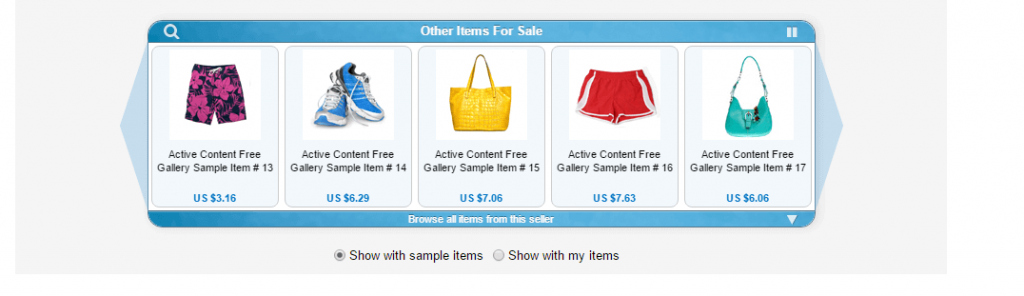 scrolling gallery not allowed in ebay templates