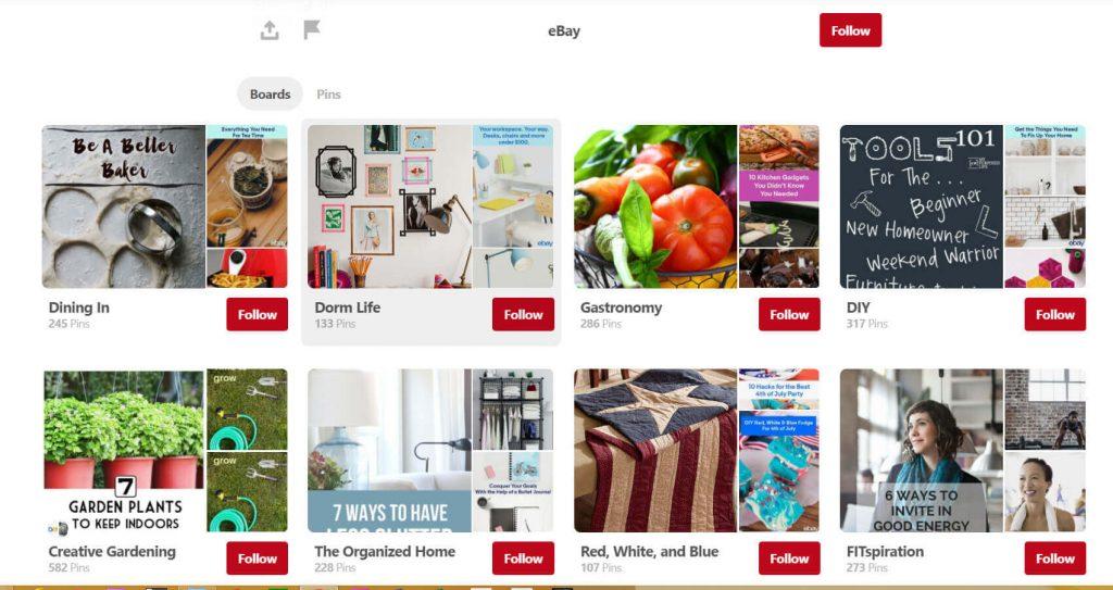 ebay pinterest selling