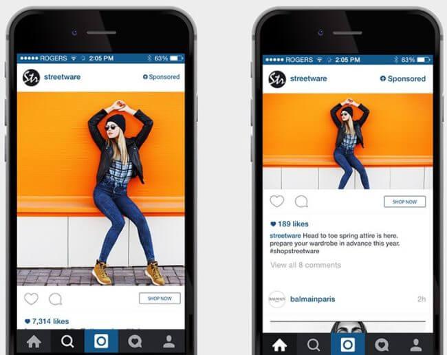 paid Instagram ads