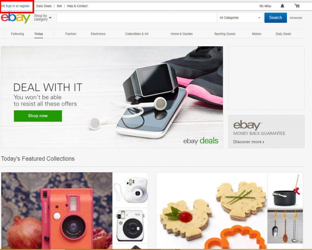 register to ebay