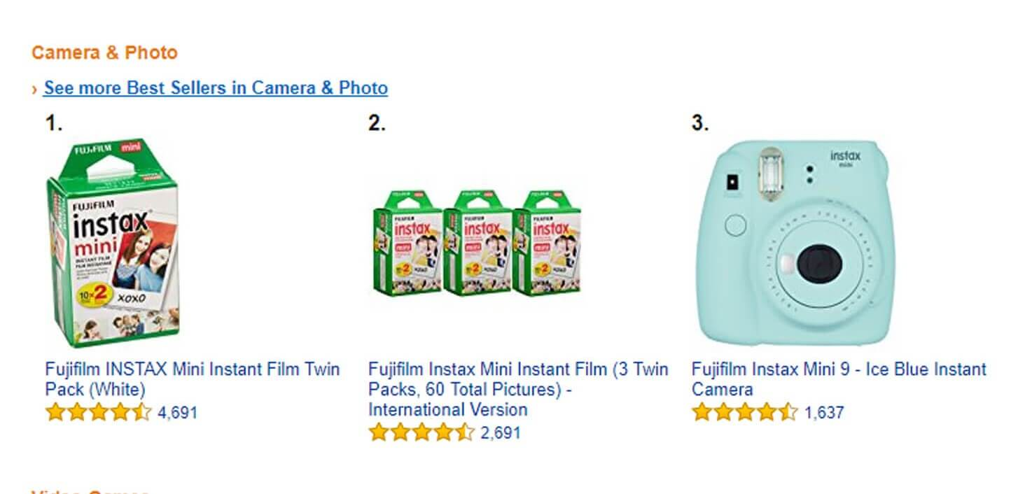 amazon best selling camera and photo