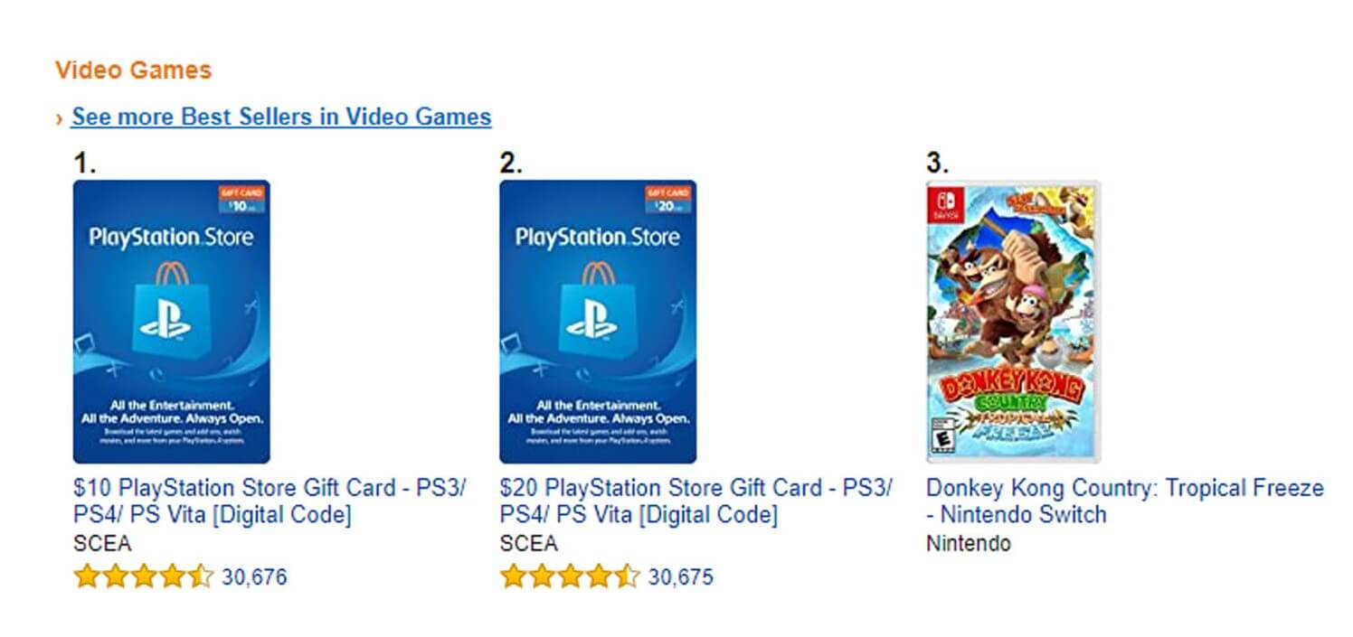 amazon best selling video games