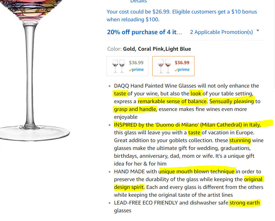 best amazon description Bullets