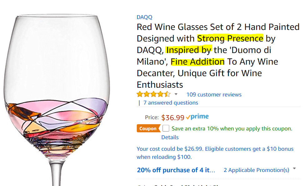 best amazon title description