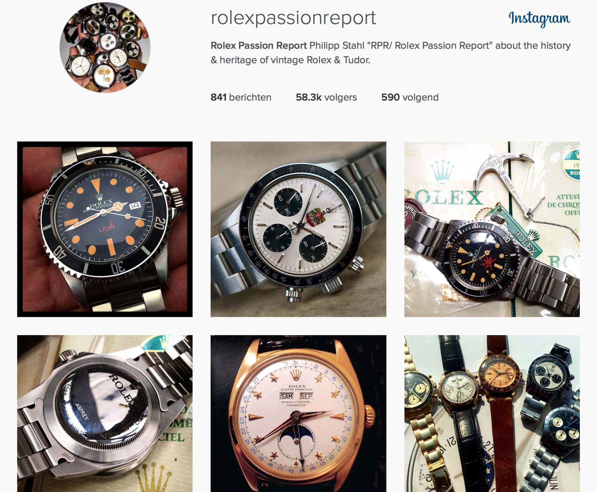 competitor instagram page example