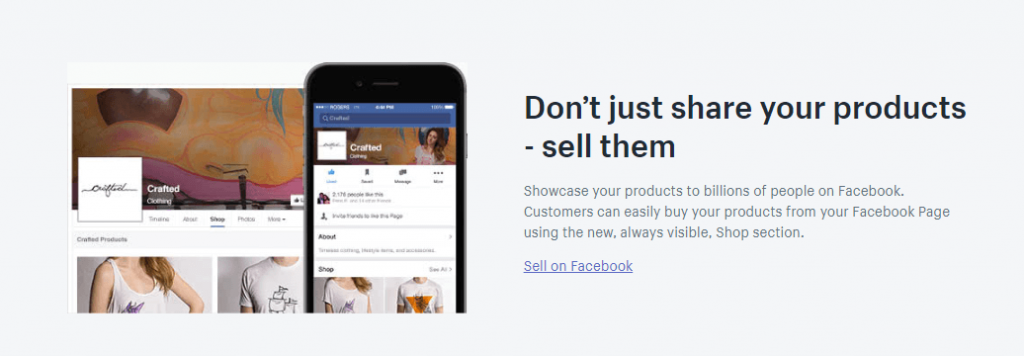 shopify lite Facebook Sales