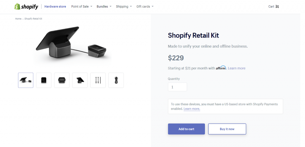 shopify pos tablet