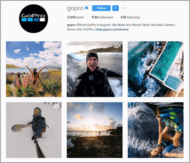 gopro instagram marketing