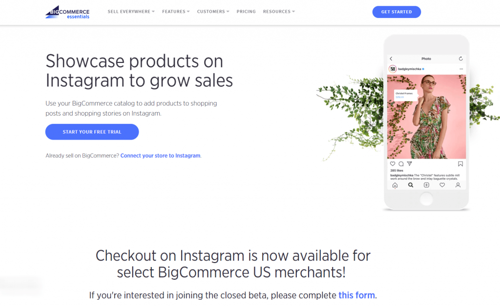 instagram bigcommerce