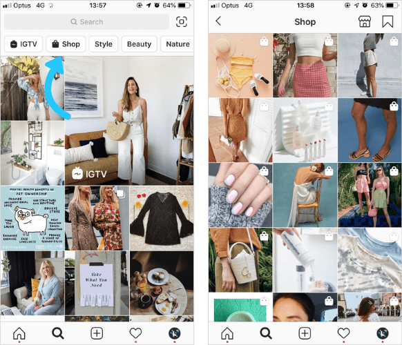 instagram shopping feed